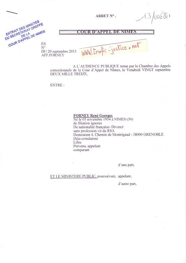 Beliebt MAGISTRATS CORROMPUS- NIMES - Vendredi 28 juin 8h30 - 2013- JUGE  GD06